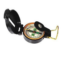 DIRECTIONAL LENSATIC COMPASS, PLASTIC CASE