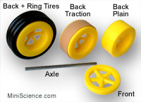 "Plastic Wheels with 1/8"" axle hole"