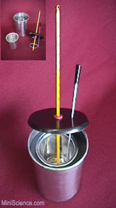 Calorimeter (Includes Glass Alcohol Thermometer)