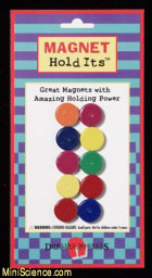 Ceramic Disc Magnets (Set of 10) Multi-Colored,