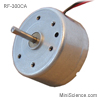 DC Motor, Round, Precious metal brush
